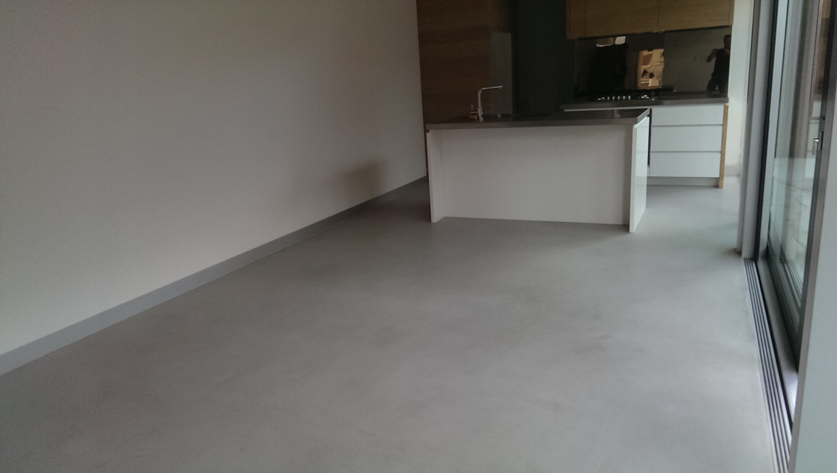 Ecoflor polished concrete floor repair treatment only 2mm for Residential concrete floor wax