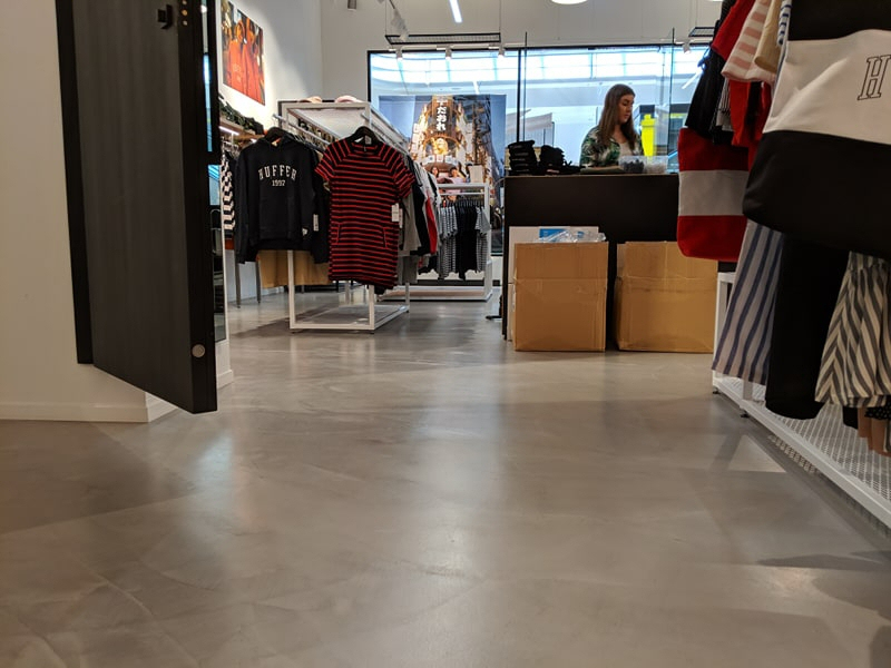 concrete floor finishes retail