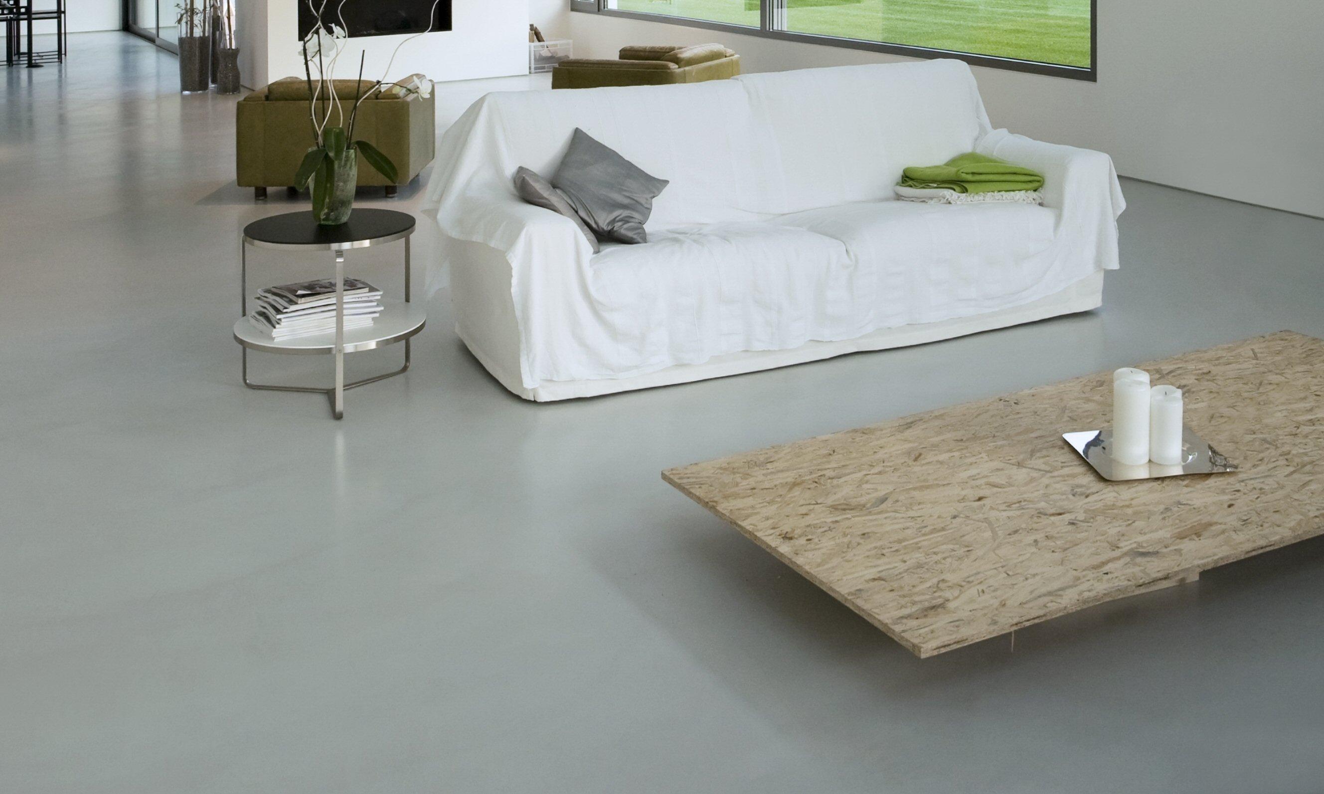 polished concrete floor overlay